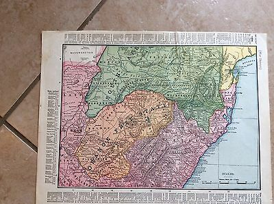 Antique Map Of Africa -- Orange Free State--  Handy Index - Very Nice Map