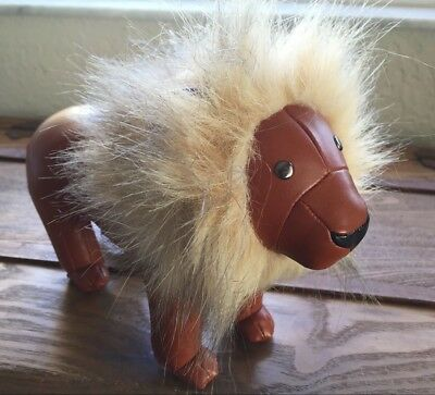 Zuny Book End Leather Animal Menagerie Lion