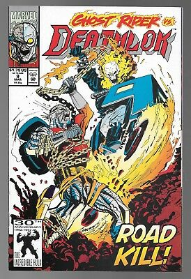 Deathlok #9 (Mar, 1992) Direct Edition Guest-Starring Ghost Rider NM- 9.2