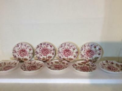 9 Johnson Brothers Rose Chintz Pink Coasters Green Mark