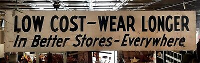 Large Wooden Double Sided  Shoe Trade Sign 1930's Country Store