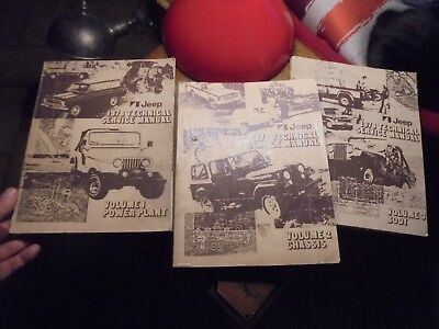 Ancien Manuel Technique Jeep 3 Volumes 1978 Technical Manuel Service en Anglais