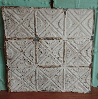 architectural antique salvaged American tin ceiling tile Ohio vintage medium****