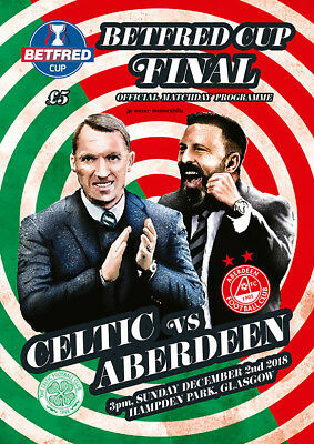 Celtic v Aberdeen - Betfred Scottish League Cup Final - 02 December 2018 SELLOUT