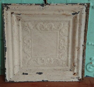 architectural antique salvaged American tin ceiling tile Ohio vintage medium**