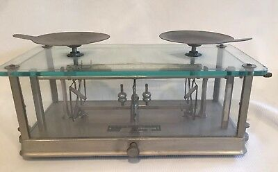 Pharmacy Balance or scale vintage - the Torsion Balance Company - works great!