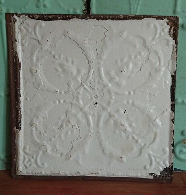 architectural antique salvaged American tin ceiling tile Ohio vintage medium old
