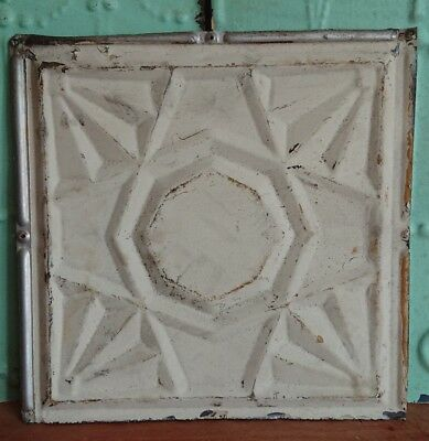 *architectural antique salvaged American tin ceiling tile Ohio 1898-1901 medium*