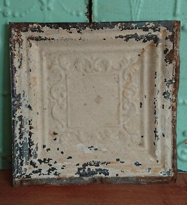 architectural antique salvaged American tin ceiling tile Ohio 1898-1901 medium