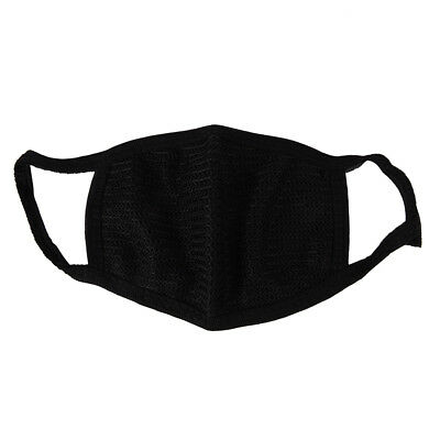 Black Unisex Mens Womens Cycling Anti-Dust Cotton Mouth Face Mask Respirator IA