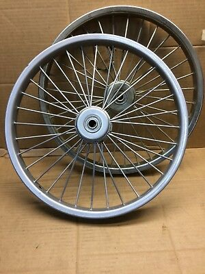 Metal Cart Wheels, take bmx 20 inch tyres. suit light Sulky or Hand cart.