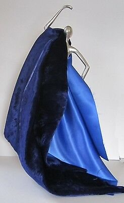 Beautiful Crushed Blue Silk Velvet &  Blue Podesua Collection for Doll Costume