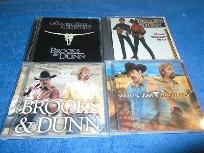 Lot of 4 Brooks & Dunn Albums Cds Red Dirt Road If you See Her Hard Workin Man