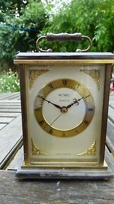 Metamec Mantle Clock - Carriage style, heavy quality