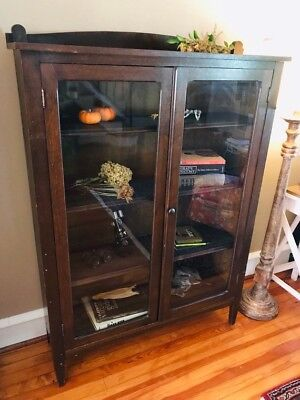 Early 20th Century Curio Display Bookcase/ Cabinet