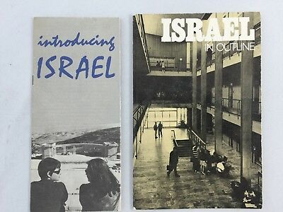 "HISTORICAL ISRAEL TRAVEL BROCHURES (2) ""Introducing"" & ""In Outline"" Circa 1970"