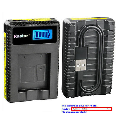 Kastar Battery LCD USB Charger for Sony Genuine NP-FW50 & OEM BC-VW1 BC-TRW