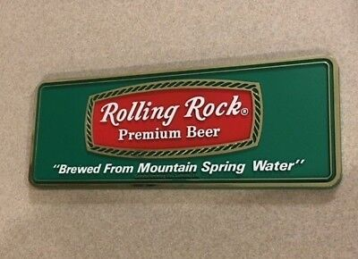 Rolling Rock Premium Beer Plastic Sign with easel and adhesive back