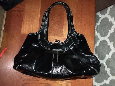 403adf776 COACH ERGO PLEATED Patent Leather Frame Satchel Bag G0969-F14331 ...