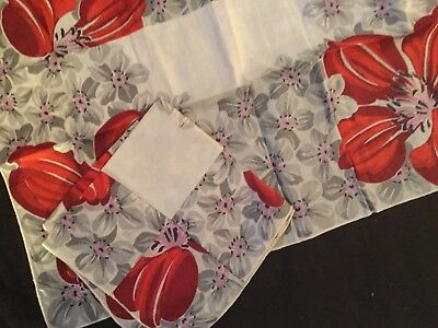 Vintage Dogwood Hankie Set Of Two Gorgeous Condition