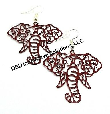 Delta Sigma Theta Inspired Elephant Earrings DST Jewelry