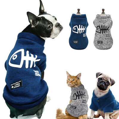 Soft Puppy Pet Dog Clothes Hoodie Winter Warm Sweater Coat Costume Apparel