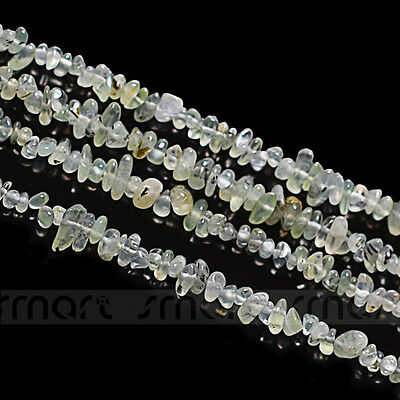 "Natural Prehnite Gem Gravel Freem Form Loose Gemstome Beads 15.5"" Inches green"