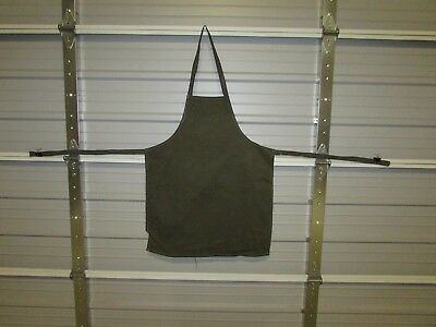 "NEW HEAVY DUTY COTTON WORK APRON, 33"" x 25"", ARMY GREEN (I)"