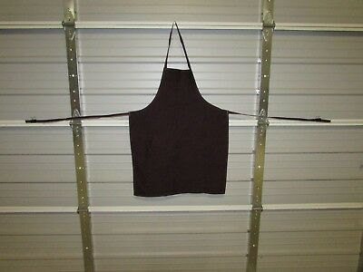 "NEW HEAVY DUTY COTTON WORK APRON, 33"" x 25"", DARK CHOCOLATE (J)"