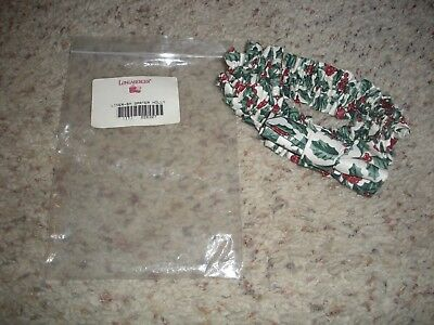 LONGABERGER Traditional Holly Small Garter with Bow NIB
