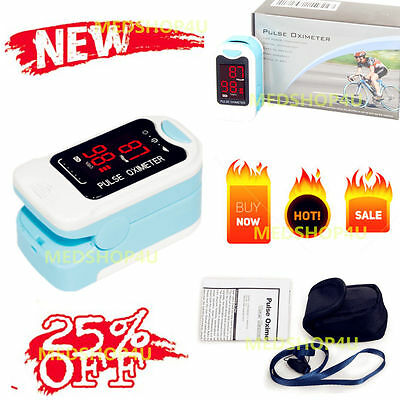 NEW CMS50M Finger Tip Pulse Oximeter Spo2 Heart Rate Monitor Blood Oxygen Rate