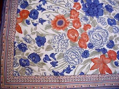 COUNTRY FRENCH Autumn Floral FALL COLORS Large Tablecloth THANKSGIVING Holiday
