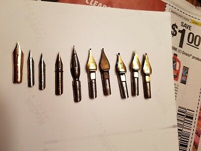 10 Pen Nibs Hunt Speedball Lettering Ross George Calligraphy Tips