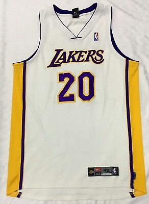 647fb67a982 Vintage Authentic Nike NBA Gary Payton #20 LOS ANGELES LAKERS Jersey Size  48(XL