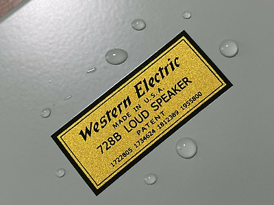 WESTERN ELECTRIC WING SMALL decal sticker label New reproduction for DIY