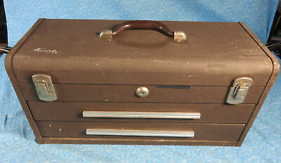 "Vintage Kennedy 20""  2 Drawer Machinest Chest Tool Box Model 220"