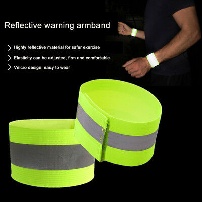 1x Elastic Traffic Night Security Running Cycling Safety Reflective Bracelet RS1