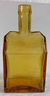 Atq EG BOOZ'S WHISKEY OLD CABIN Light Amber Bottle