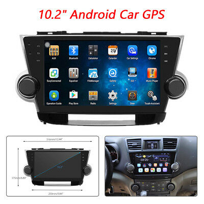 """10.2"""" Android Car GPS HD Android Car Radio Player kit Fit For Toyota Highlander"""