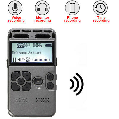 1x64GB Rechargeable LCD Digital Audio Sound Voice Recorder Dictaphone MP3 Player