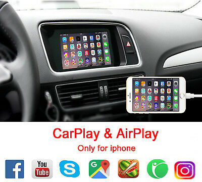 CARPLAY MIRRORING FOR Audi A3 A4 A4 A4L A5 S5 Q5 Q7 Upgrade MMI system  AirPlay