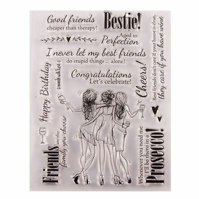Girls Silicone Clear Stamp Seal DIY Scrapbook Embossing Album Decor Craft Art