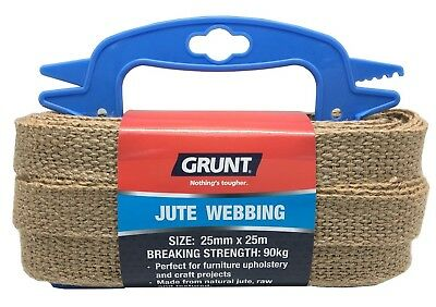 Grunt JUTE WEBBING Ideal For Belts & Harnesses *Aust Brand- 25mmx25m Or 50mmx25m
