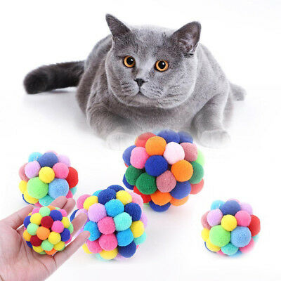 Catnip Colorful Pet Interactive Toy Training Tool Activity Cat Bouncy Ball