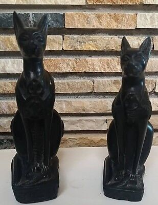 Pharaonic statues ancient cats GOD  FIGURINE MYTH BASTET AUTHENTIC