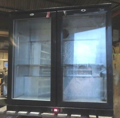 CLEARANCE  Double door Bottle Cooler hinged various conditions all working