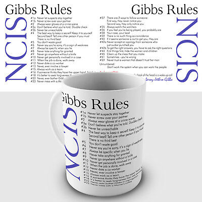 Gibbs Rules Gift Mug - Quotes from the NCIS Team Leader