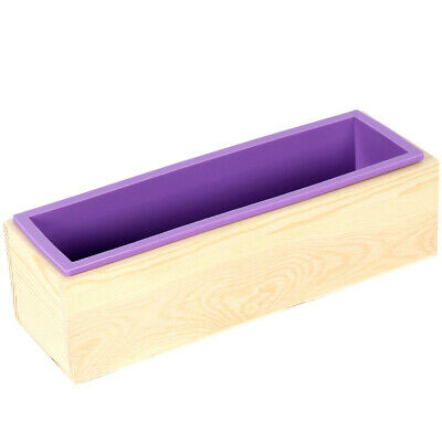 Loaf Silicone Mold With Wooden Box for Soap Making Biscuit Cake Baking Tools