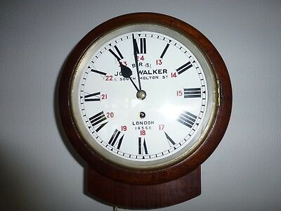 Small 8 Inch Fusee Drop Dial In Mahogany With Cast Brass Bezel