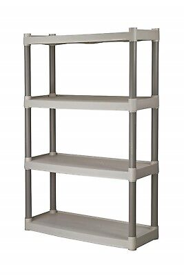 Utility Shelving Unit Stand Tower 4 Tier Heavy Duty Home Storage Organizer Rack